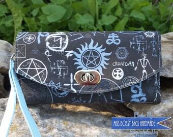 Made to Order: Supernatural Inspired Necessary Clutch Wallet, NCW, Fandom Themed Wallet, Fandom Clutch Wallet, Wristlet Wallet, Cosplay