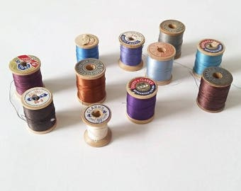 Vintage Group of Spools of Thread