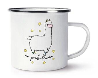 No Prob-Llama Retro Enamel Mug Cup