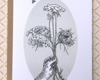 Queen's Anne Lace/Get Well/Thank You/Thinking of You/Greeting Card