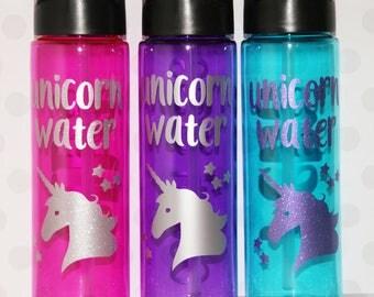 Personalized unicorn water bottle, personalized unicorn gift, unicorn party favor, gift for unicorn lover, girl unicorn gift, unicorn hunter