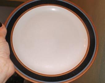 "Arabia Finland Taika pattern dinner plate  10 3/8"" stoneware"