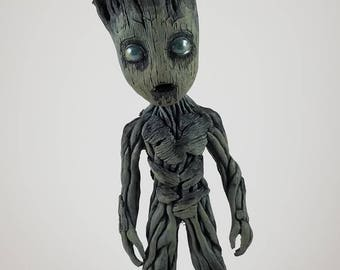 "Life size baby Groot sculpture 9.5"" tall HALLOWEEN EDITION"
