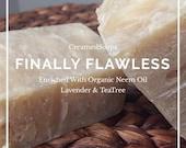 Organic Neem Oil, Lavender, TeaTree - Vegan Hot Process Soap