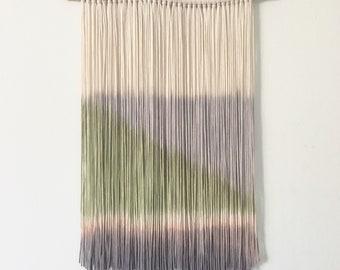 Dip Dye Wall Hanging | Boho Yarn Tapestry | Fiber Art | Macrame Boho Wall Hanging