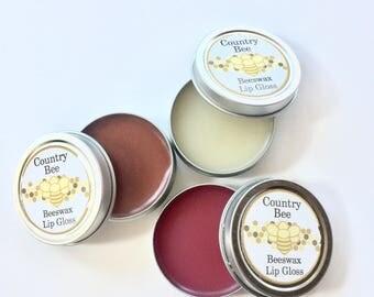Beeswax Lip Gloss-Natural Lip Balm-Lip Repair-Chapstick-Lipstick-Honey Lip Balm