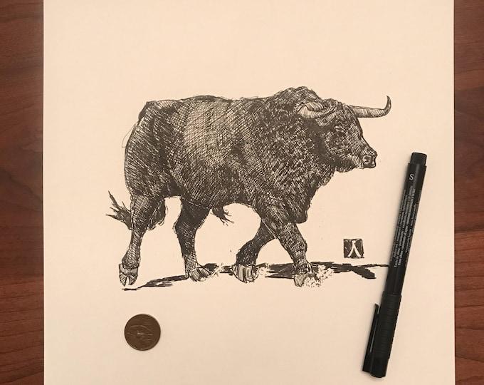 KillerBeeMoto: Fighting Bull Limited Print 1 of 100