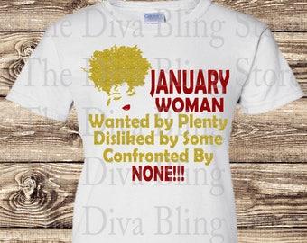 January Woman 2018 SVG file