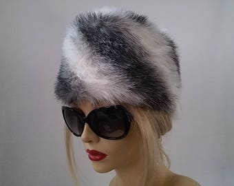 Lovely Faux Fur Chinchilla Hat