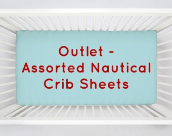 OUTLET 4-Pack of Assorted Nautical Crib Sheets by Carousel Designs