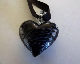 Murano Glass Heart Pendant
