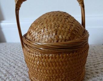 Small Chinese Bamboo Basket