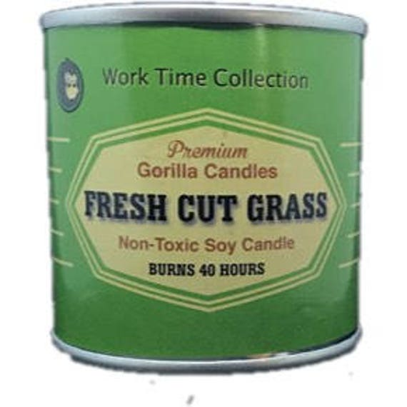Fresh Cut Grass Scented Candle Working Man Scents