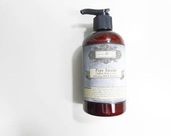 Pipe Smoke Organic Body Lotion - Organic Jojoba Oil, Shea Butter and Coconut Milk - Body Lotion for Men - 9.3 oz