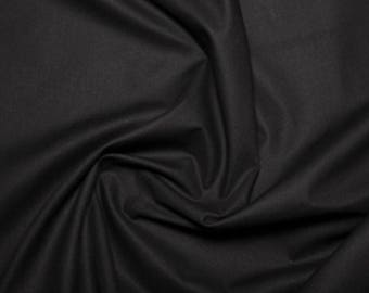 """Black - Extra Wide Cotton Sheeting Fabric 100% Cotton Material - 239cm (94"""") wide"""
