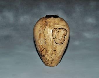 Spalted Maple Vase -- Woodturning