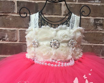 Ready to ship! Coral Flower Girl Dress, Coral Tutu Dress, Coral Tulle Dress, Coral Dress, Coral Wedding, Coral
