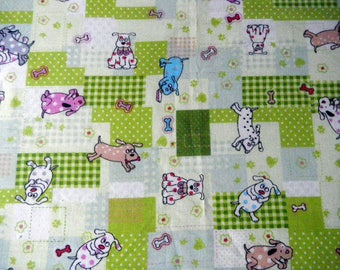 "embroidery ""colorful and fun dog"" cotton"