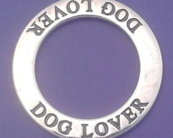 CLEARANCE -  DOG LOVER Charm or Pendant .925 Sterling Silver Affirmation