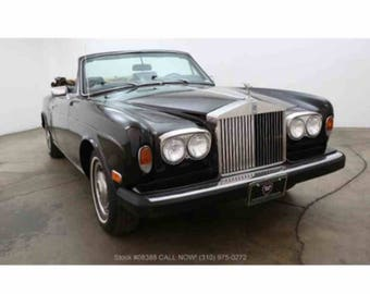 1979 Black Rolls Royce (The Witch as we call her) Corniche rare vintage70s British automobile 1970s convertible luxury drive Made in England