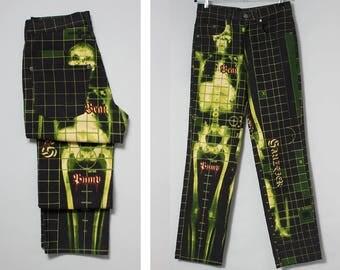 JEAN PAUL GAULTIER men's 1996 x-ray print jeans