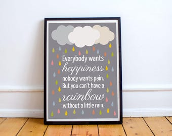 "Poster ""Happiness"""