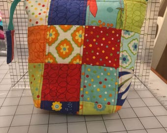 Quilted Pouch - Zippered Pouch