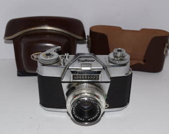 Vintage Voightlander Bessamatic 35mm Camera w/Color-Skopar X 1:2.8/50 Lens
