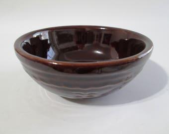 "Vintage Marcrest Cereal Bowl, Marcrest MRC2 Daisy and Dot Bowl, Marcrest, Warm Colorado Brown, 5 5/8"" Cereal Bowl, Marcrest Brown Stoneware"