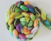 bfl sw nylon,Spring meadow, Sock blend top,handdyed fiber for spinning