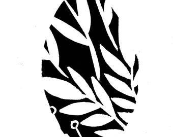 Botanical Silhouette A3 Art Print