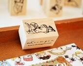 a Quill Pen / Original Rubber Stamp / Designed by Krimgen