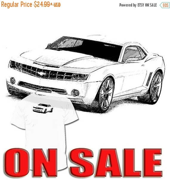 40% OFF Sale Chevrolet Camaro Drawing Tshirt Your Mustang