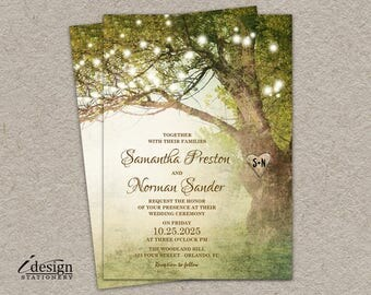Enchanted forest invitation | Etsy