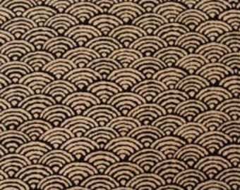 Fabric - Sevenberry scallop print - medium weight woven cotton