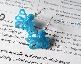 Blue octopus Octopus earrings