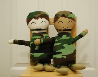 Custom Cloth Army Doll