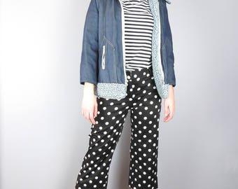 Vintage 90s Polka Dotted Capri Pants