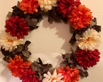 "14"" fall wreath"