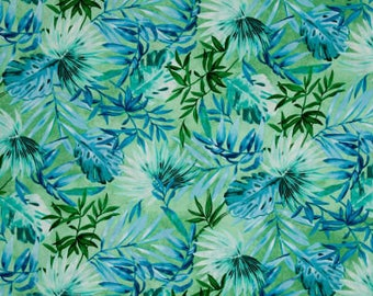 Timeless Treasures Fabric Collections - Oasis Tropical Leaves Green | PRE-ORDER Fabric | Quilting, Sewing, Apparel, Home Decor