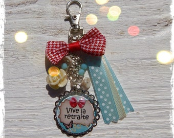 "Bag charm ""Retirement to live""! Jewelry cabochon"
