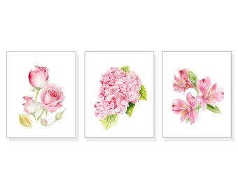 Incroyable Flower Wall Art Floral Wall Art Flower Decor Flower Wall Decor Pink Home  Decor Pink Flower