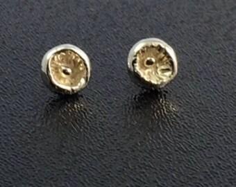 Pod Post Style Earrings in Sterling Silver / Gifts for Her / Handmade Earrings