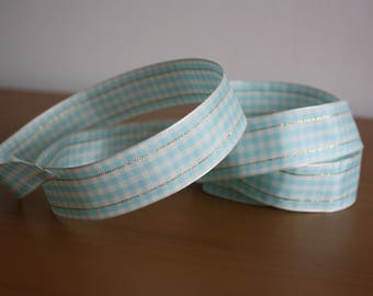 Gingham Wired Edge Ribbon