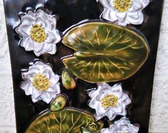 Mid-Century Jie Gantofta Sweden Ceramic Plaque Wall Tile (12.5 x 9)