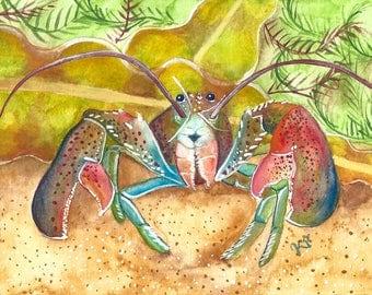 Lobster Print 5x7