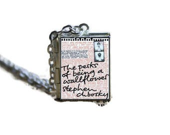 The Perks of being a Wallflower Book Locket Necklace