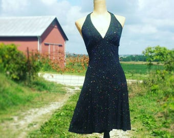 1990's Sparkle Halter Dress