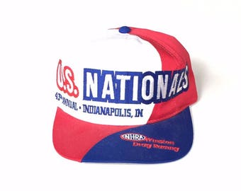 1997 US NATIONALS 43rd annual nhra winston drag racing Snapback Snap back Strapback hat One Size Adult Unisex twill