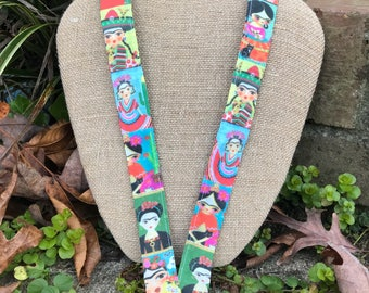 Frida Kahlo Lanyard Spanish Teacher Lanyard Art Teacher Lanyard Spanish Art Faces of Frida Lanyard